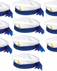 SAILOR's HAT MARINE NAVY SEAMAN MARINE CAPTAINS UNISEX FANCY DRESS ACCESSORY