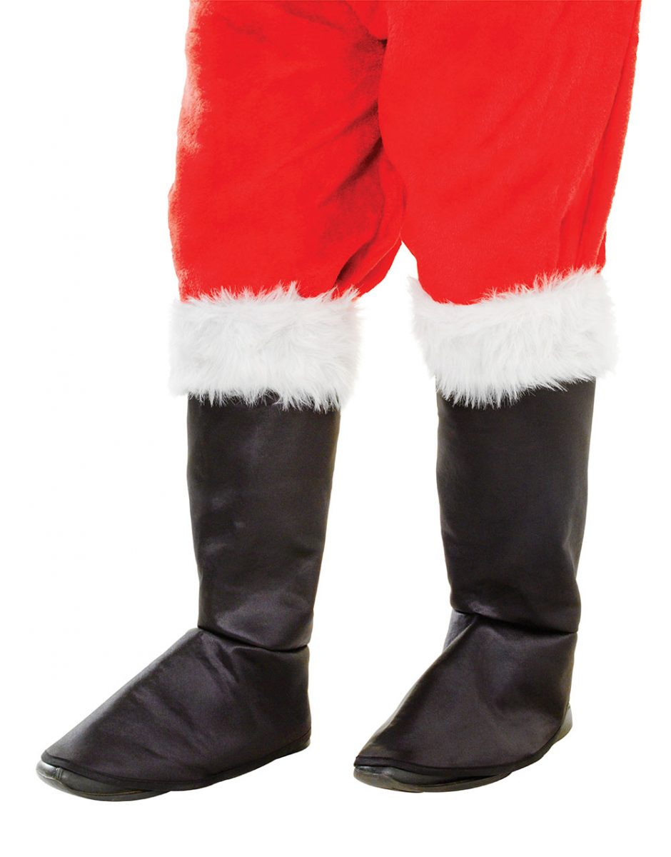 422a7a94a58 Christmas Santa Claus Black Boot Tops With Fur - GHURAZI TRADE LIMITED