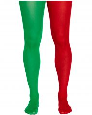 3ed5ddce64607 GREEN & RED ELF TIGHTS Unisex Xmas Christmas FancyDress Accessories Play  Theatre