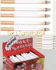 6 Fake cigarettes Smoke effects lit theatrical Novelty School Play