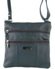 Navy Women's Small Genuine Soft Leather Shoulder Cross Body Travel Ladies Purse Bag