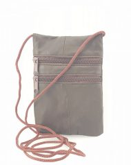 Dark Brown Lorenz Genuine Soft Leather Travel Neck Passport Holder Pouch Purse
