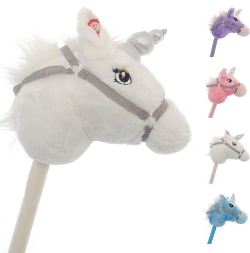 Kids Play Galloping Hobby Horse Soft Pony Toy Sparkle real Sound