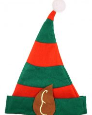 ADULT STRIPED ELF NOVELTY CHRISTMAS HATS FESTIVE FANCY DRESS OFFICE PARTY  XMAS HAT ACCESSORIES d4bad4a2baf6